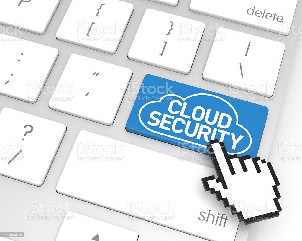 Cloud Computing Security Enter Key royalty-free stock photo