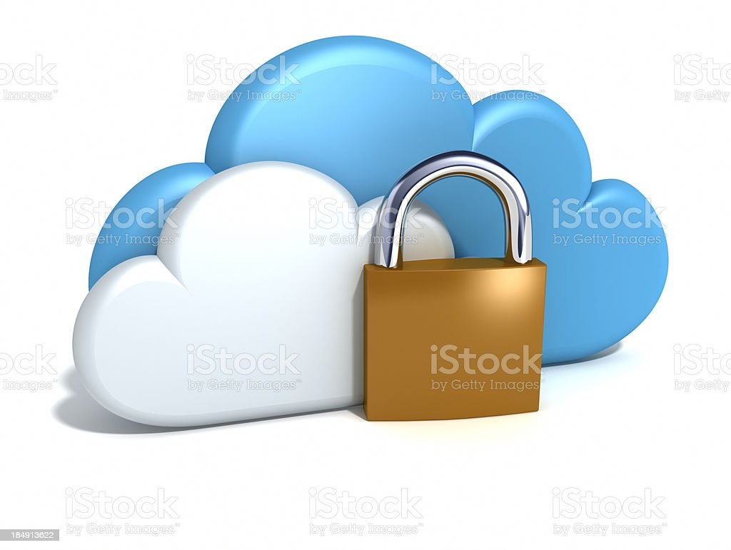 Cloud computing security royalty-free stock photo