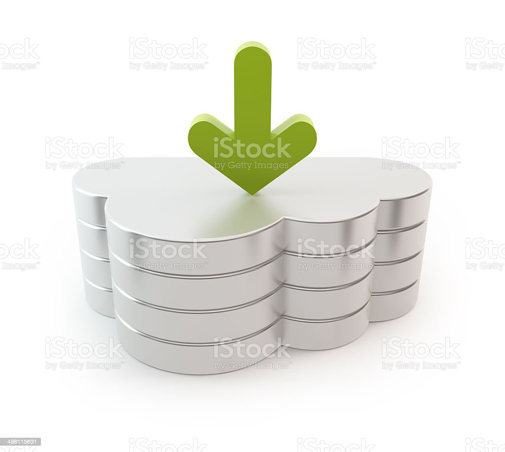 Cloud computing server - download arrow stock photo