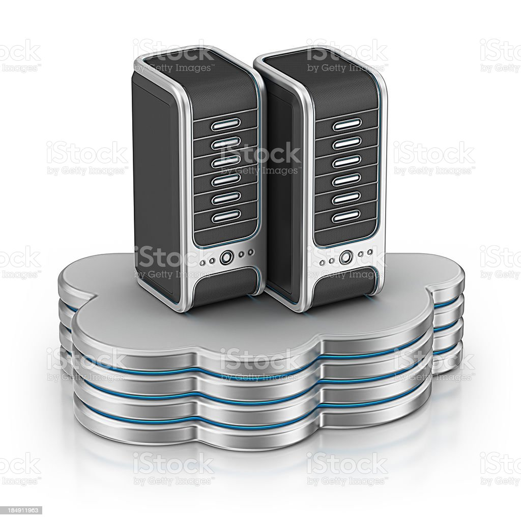 cloud computing server royalty-free stock photo