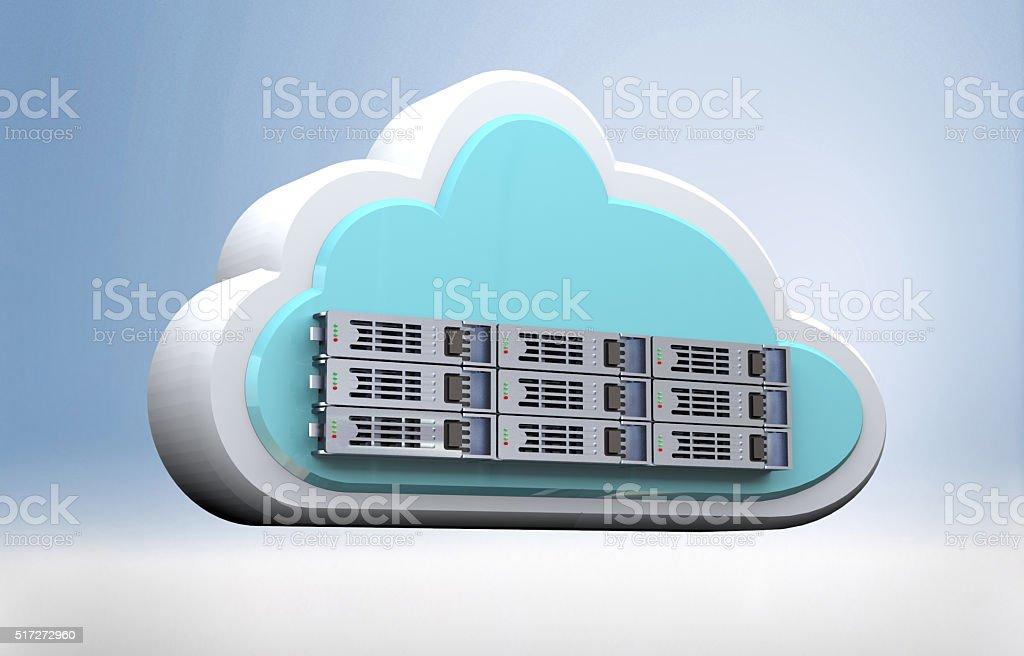 Cloud Computing storage server stock photo