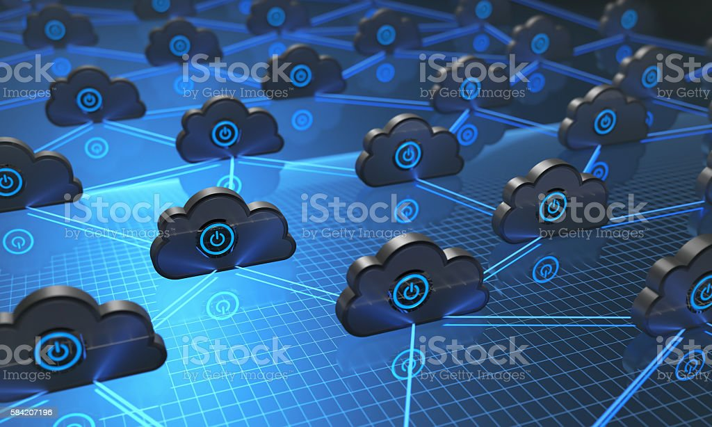 Cloud Computing Synchronizing stock photo