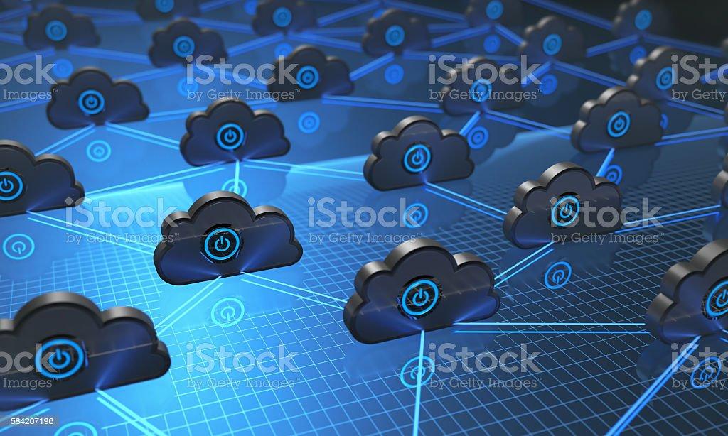 Cloud Computing Synchronizing stock photo