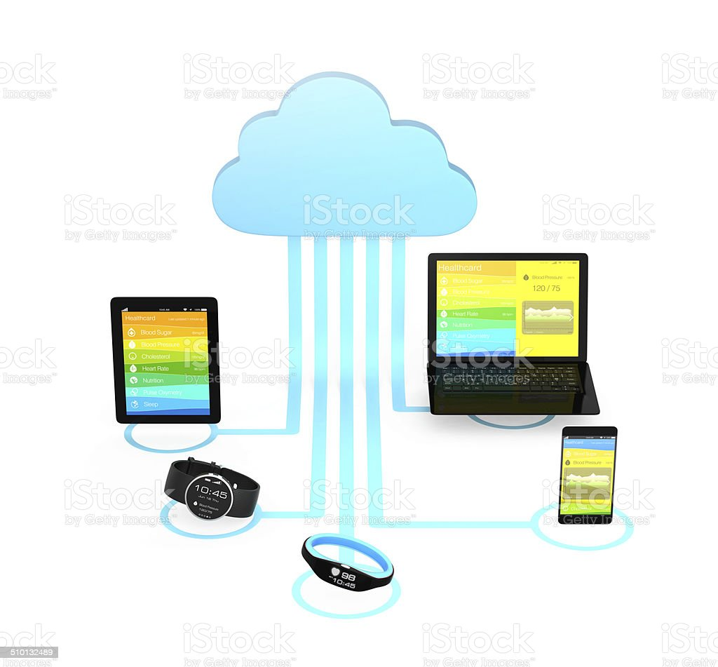 Cloud computing technology concept for healthcare stock photo
