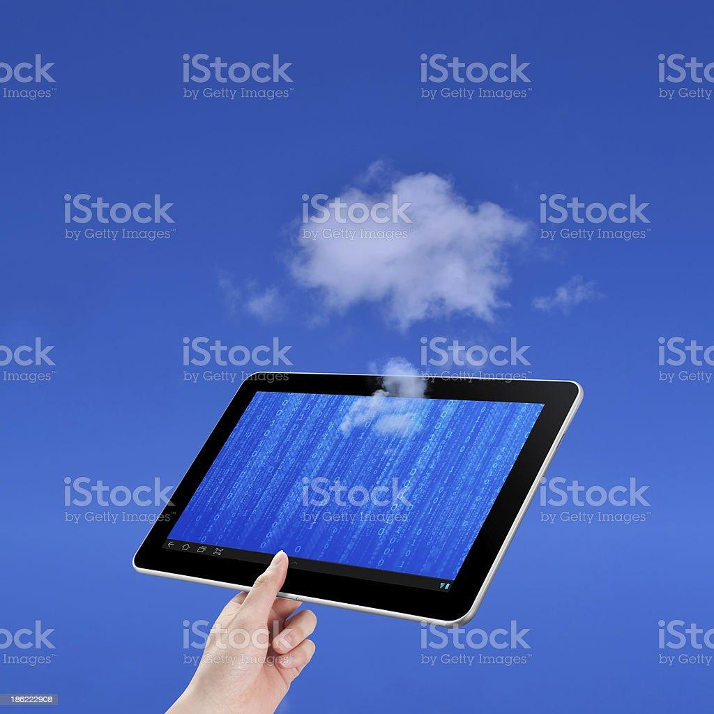 Cloud computing technology concept stock photo