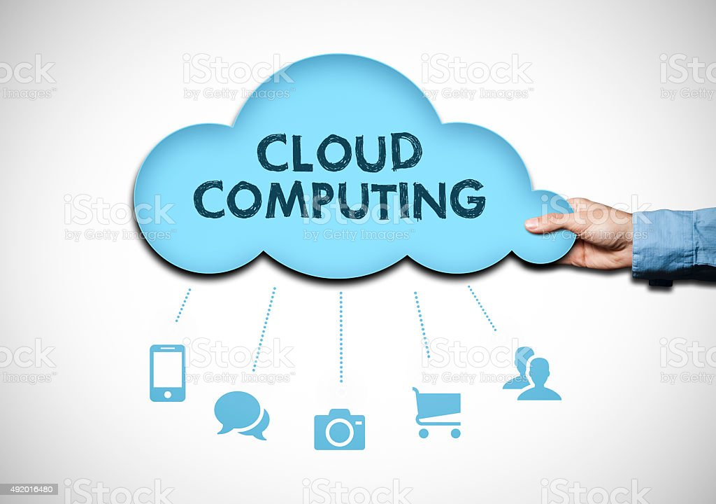 Cloud computing / Whiteboard concept (Click for more) stock photo