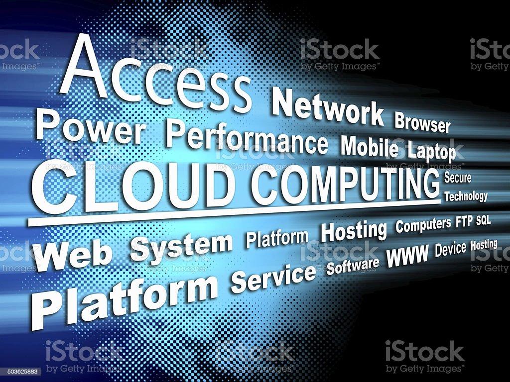 Cloud computing - Word cloud stock photo
