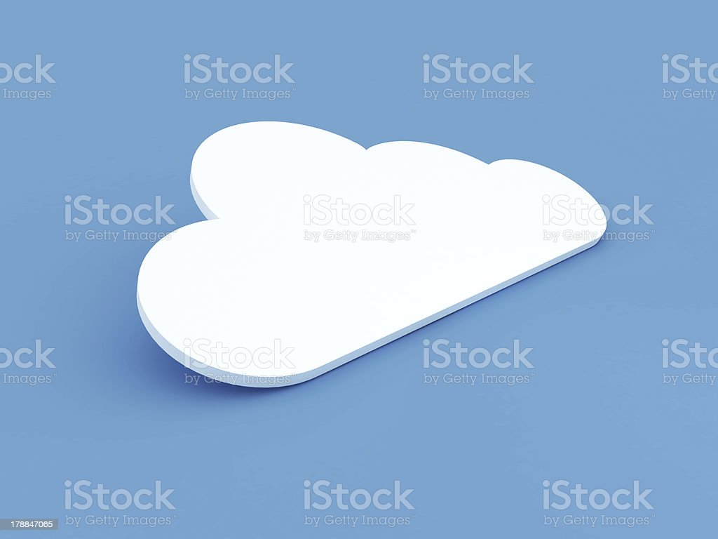 Cloud Concept on Blue Background royalty-free stock photo