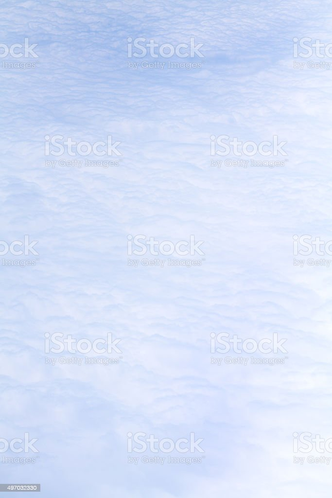 Cloud cover seen from above stock photo
