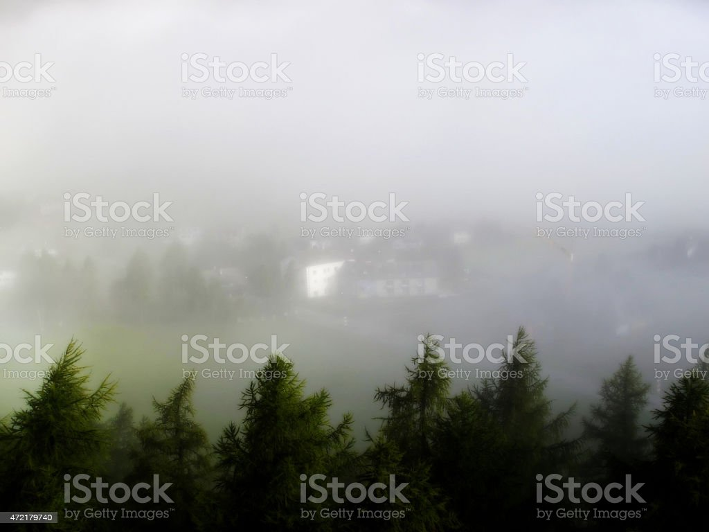 Cloud Cover Sils Maria stock photo