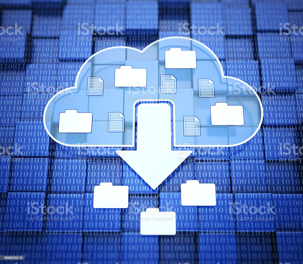 Cloud download stock photo
