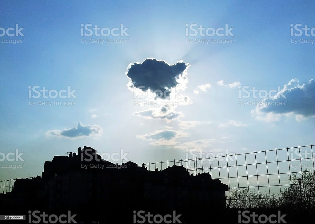 Cloud Eclipse royalty-free stock photo