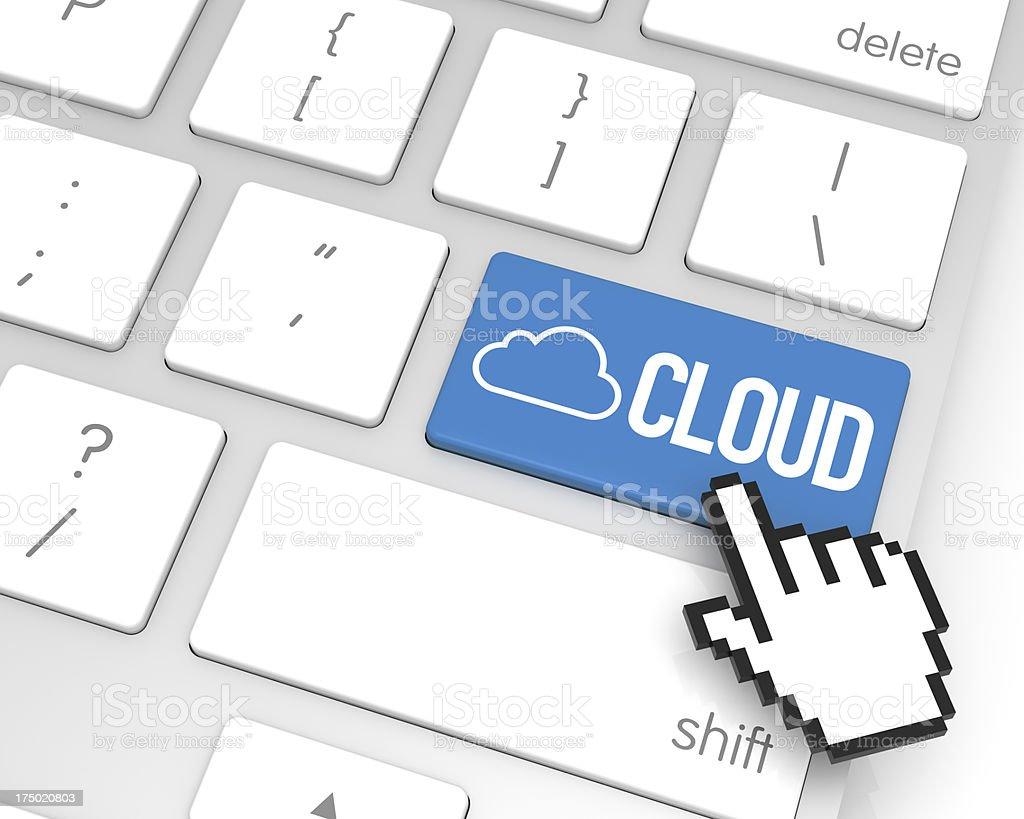 Cloud Enter Key royalty-free stock photo