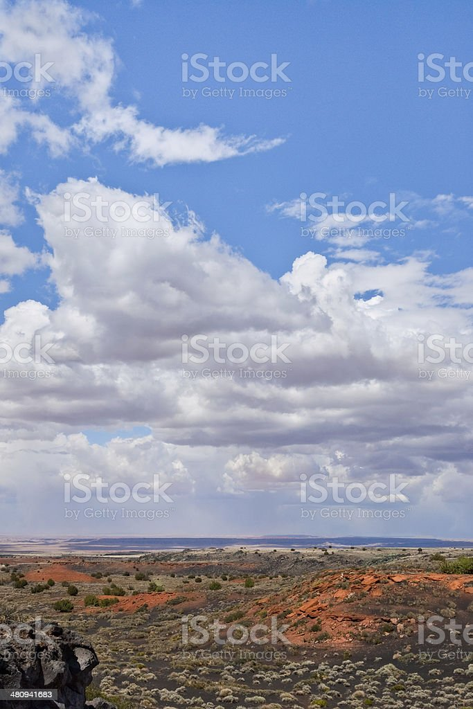 Cloud Formation over the Painted Desert royalty-free stock photo