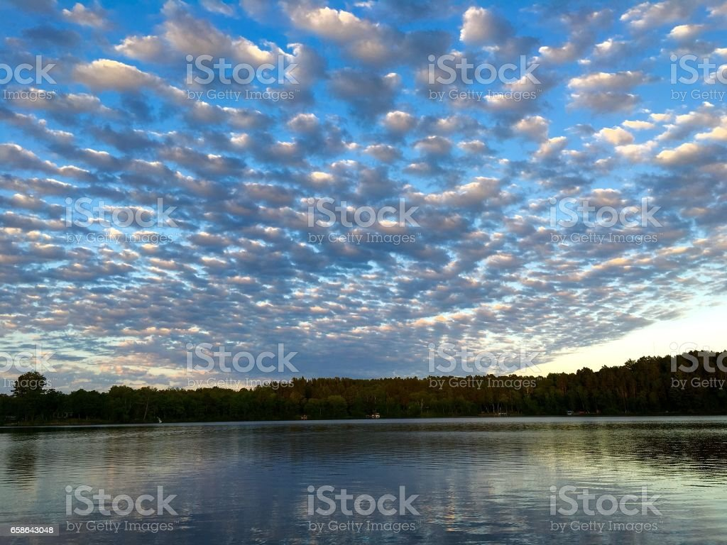 Cloud formation stock photo