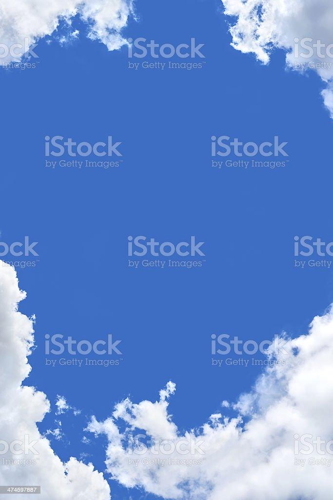 Cloud frame stock photo
