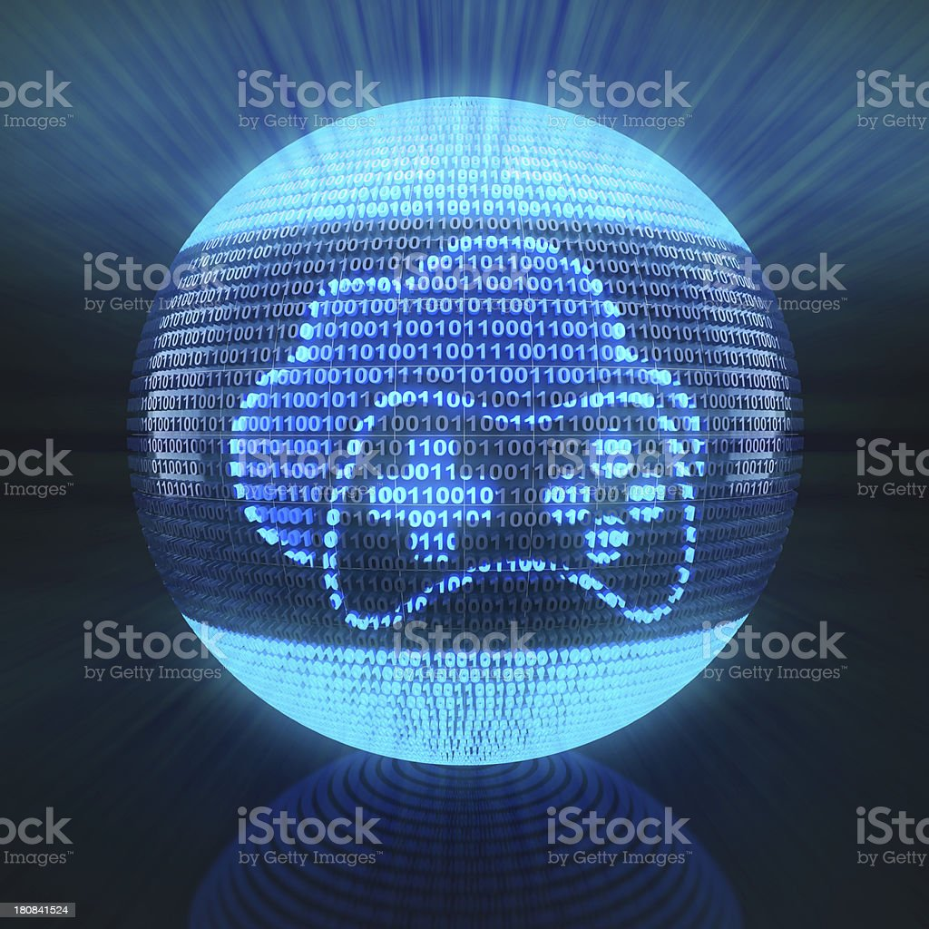 Cloud gaming icon royalty-free stock photo