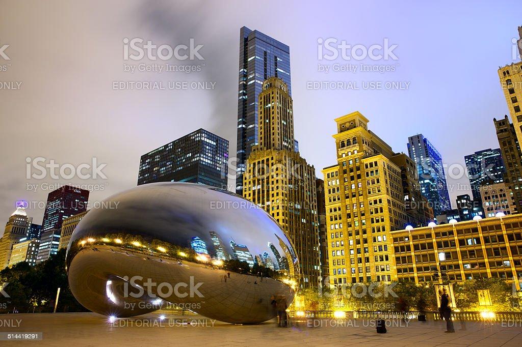 Cloud Gate Bean stock photo