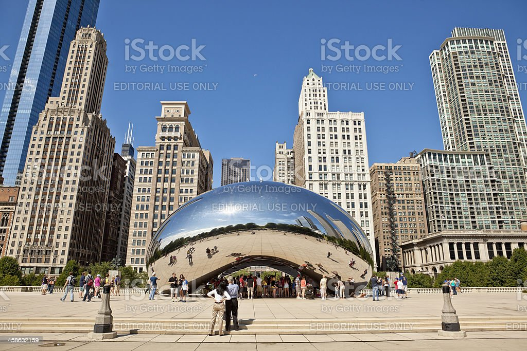 Cloud Gate in Chicago stock photo