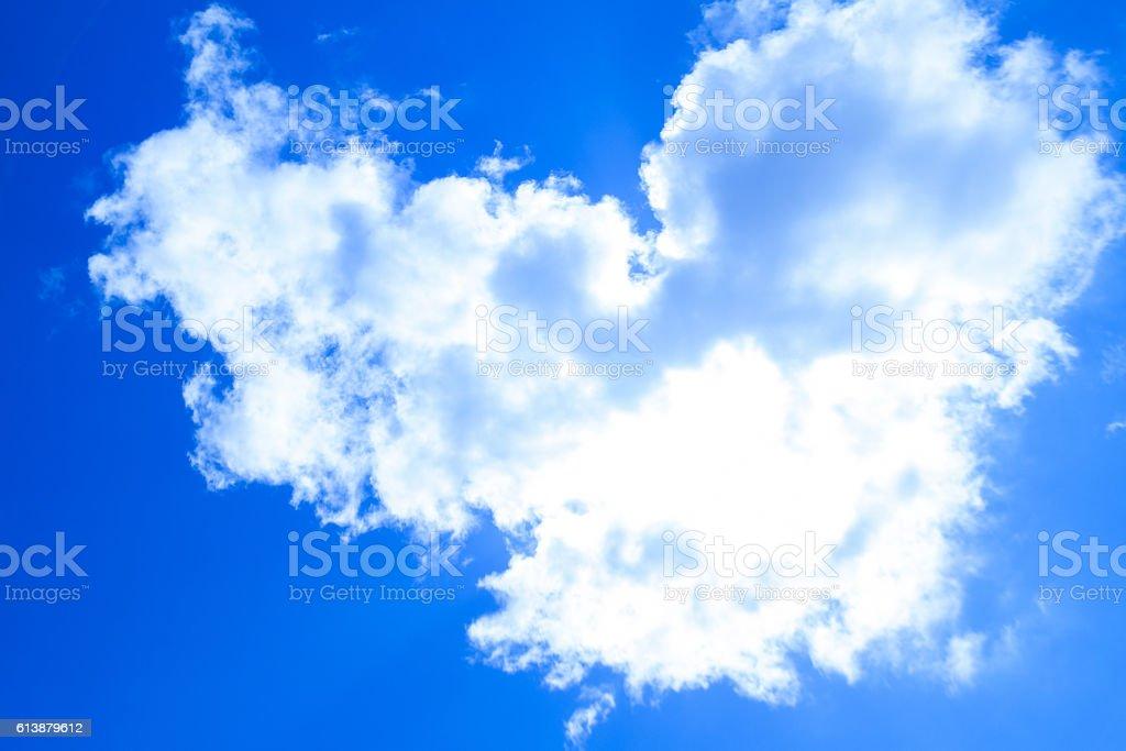 Cloud heart shape stock photo