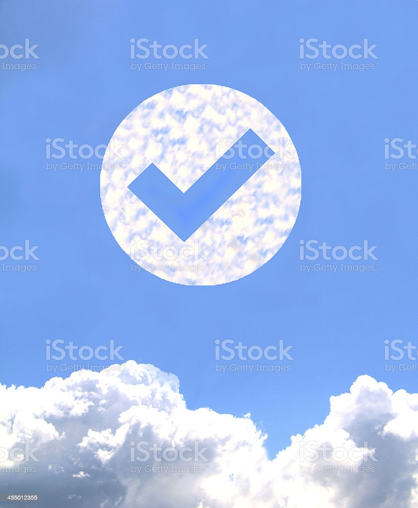 Cloud icon royalty-free stock photo