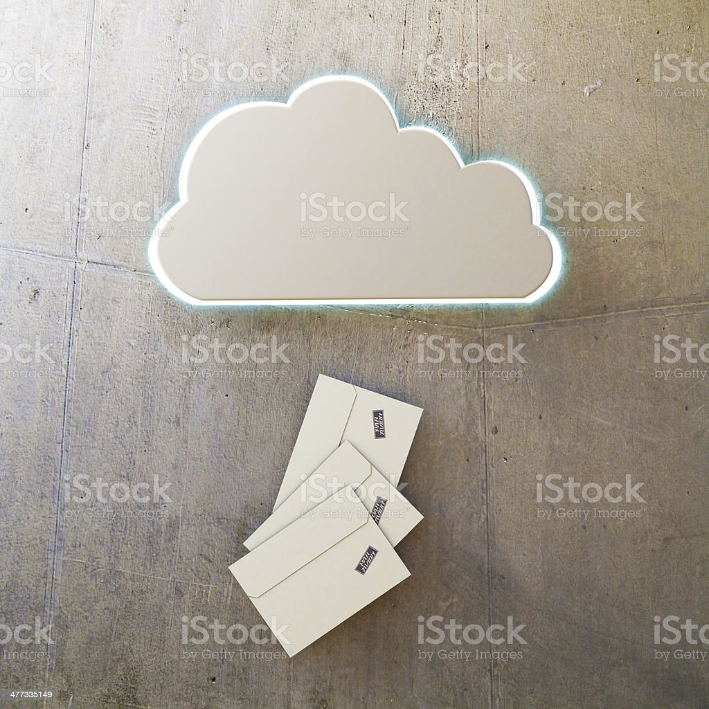 cloud icon stock photo