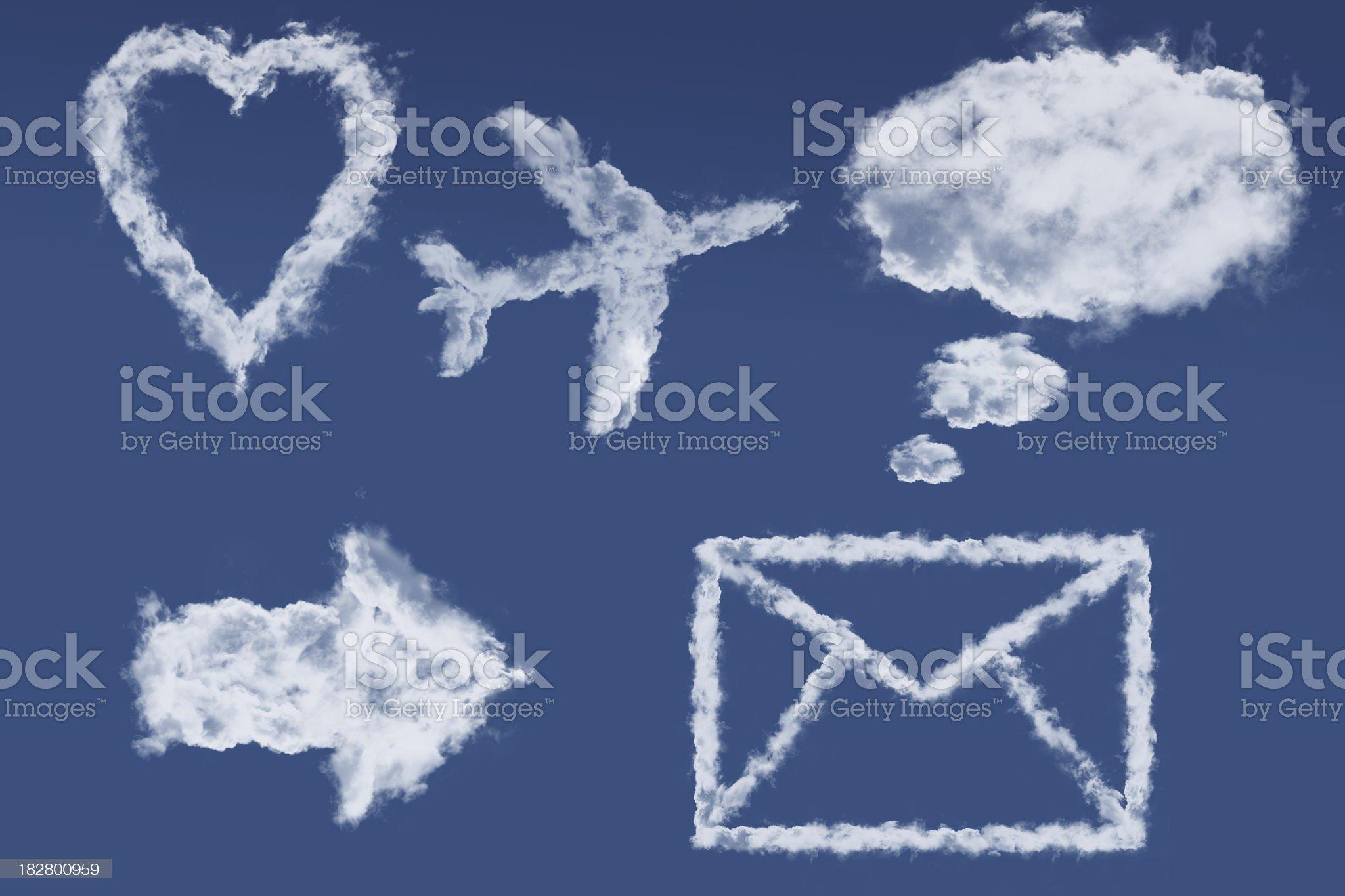 Cloud icon set royalty-free stock photo