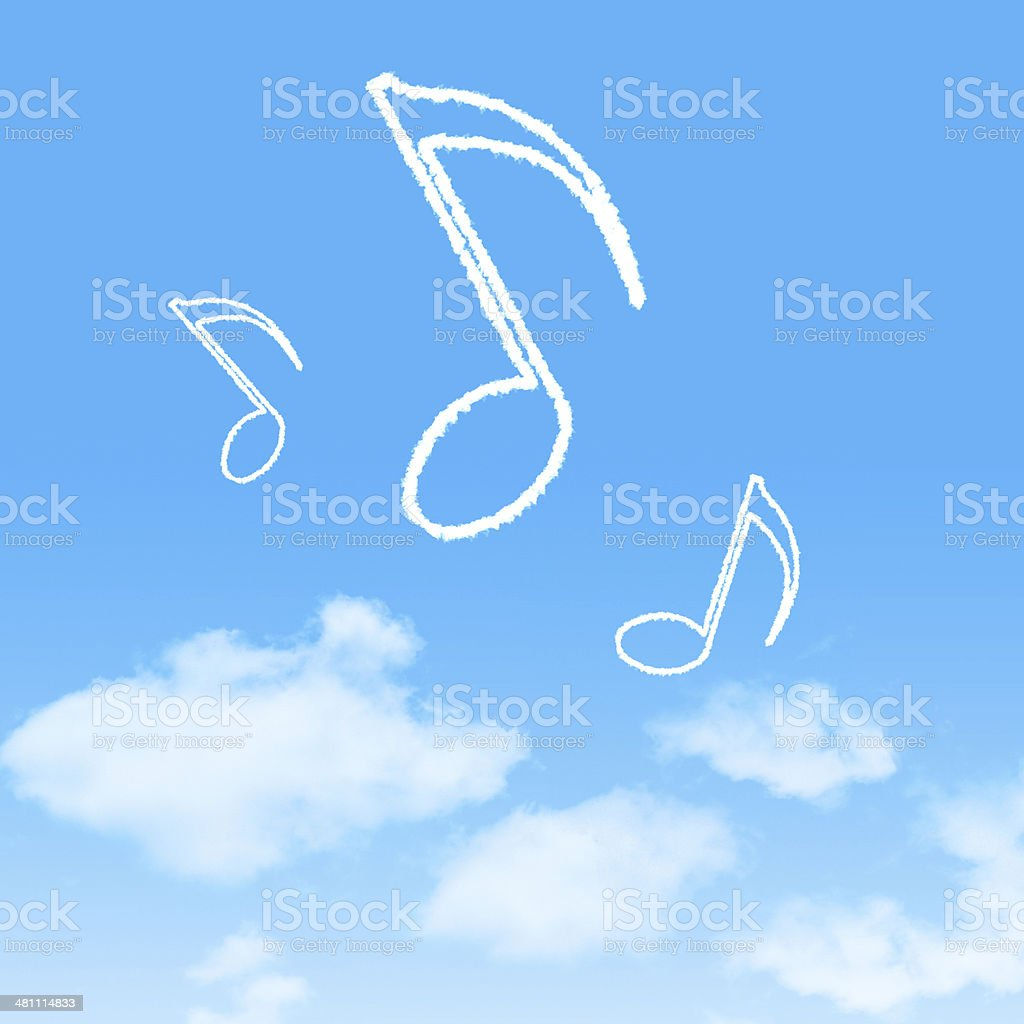 cloud icon with design on blue sky background stock photo