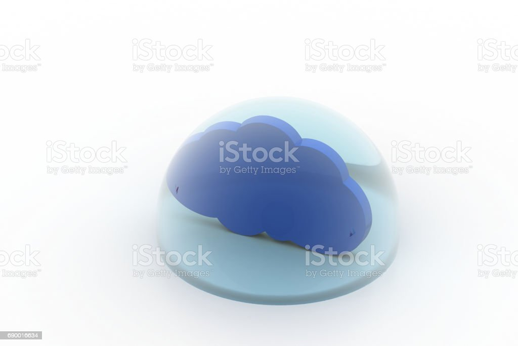 Cloud in the bubble stock photo
