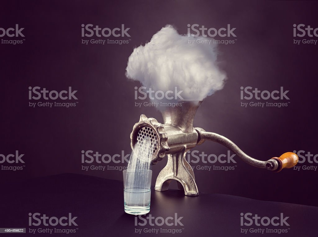 Cloud in the grinder stock photo