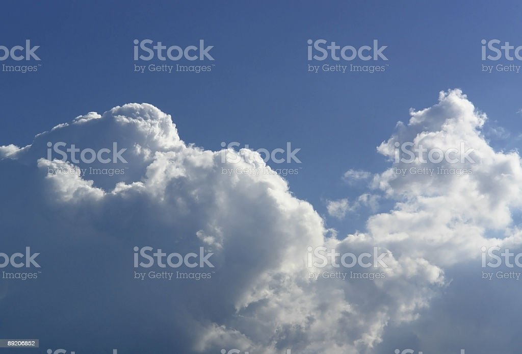 cloud in the sky stock photo