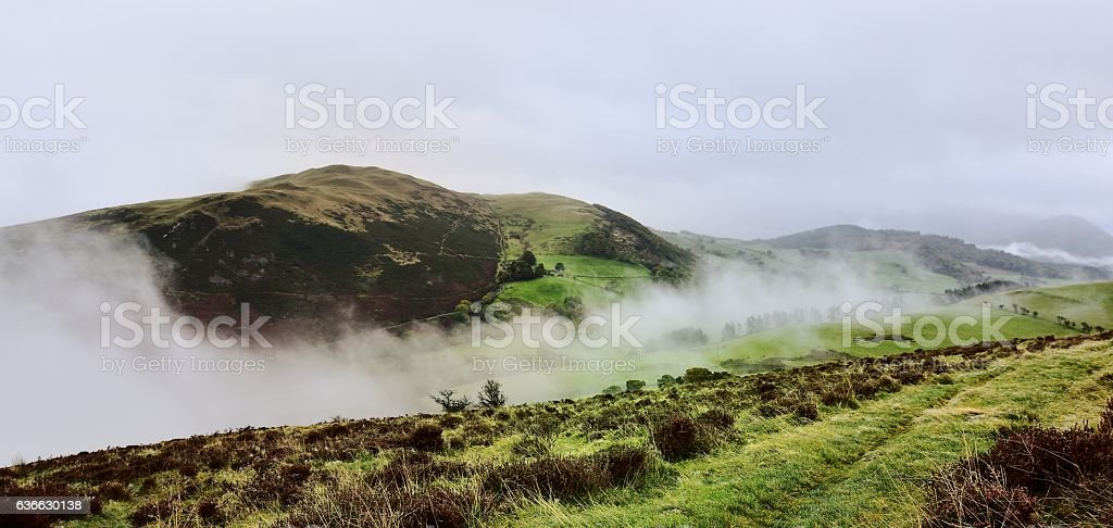 Cloud Inversion and Sale Fell stock photo