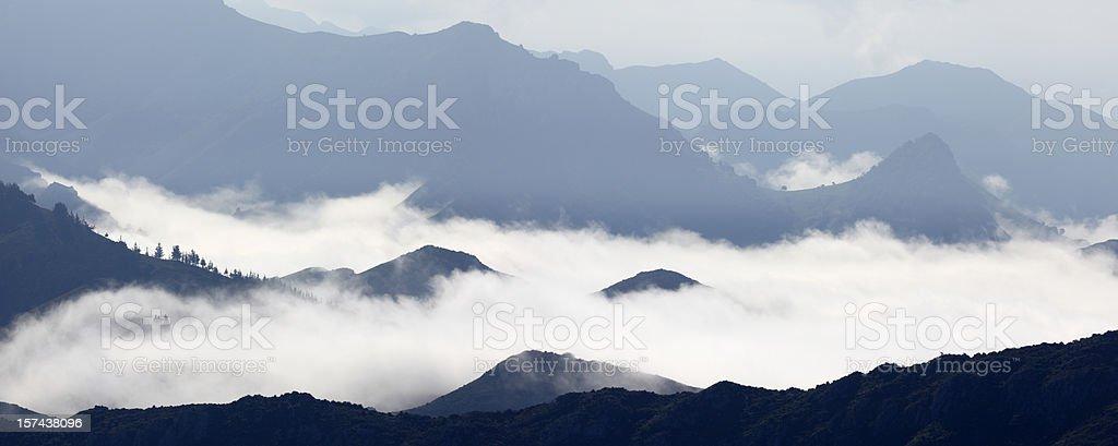 Cloud Inversion, Picos de Europa Mountains stock photo
