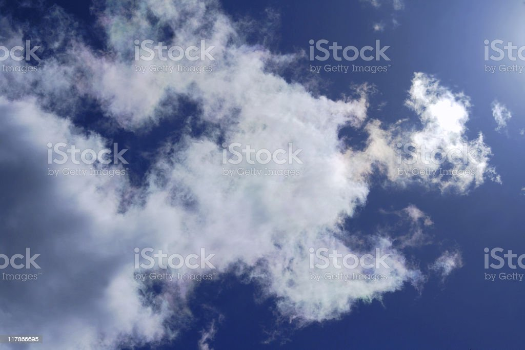 Cloud Iridenscence stock photo