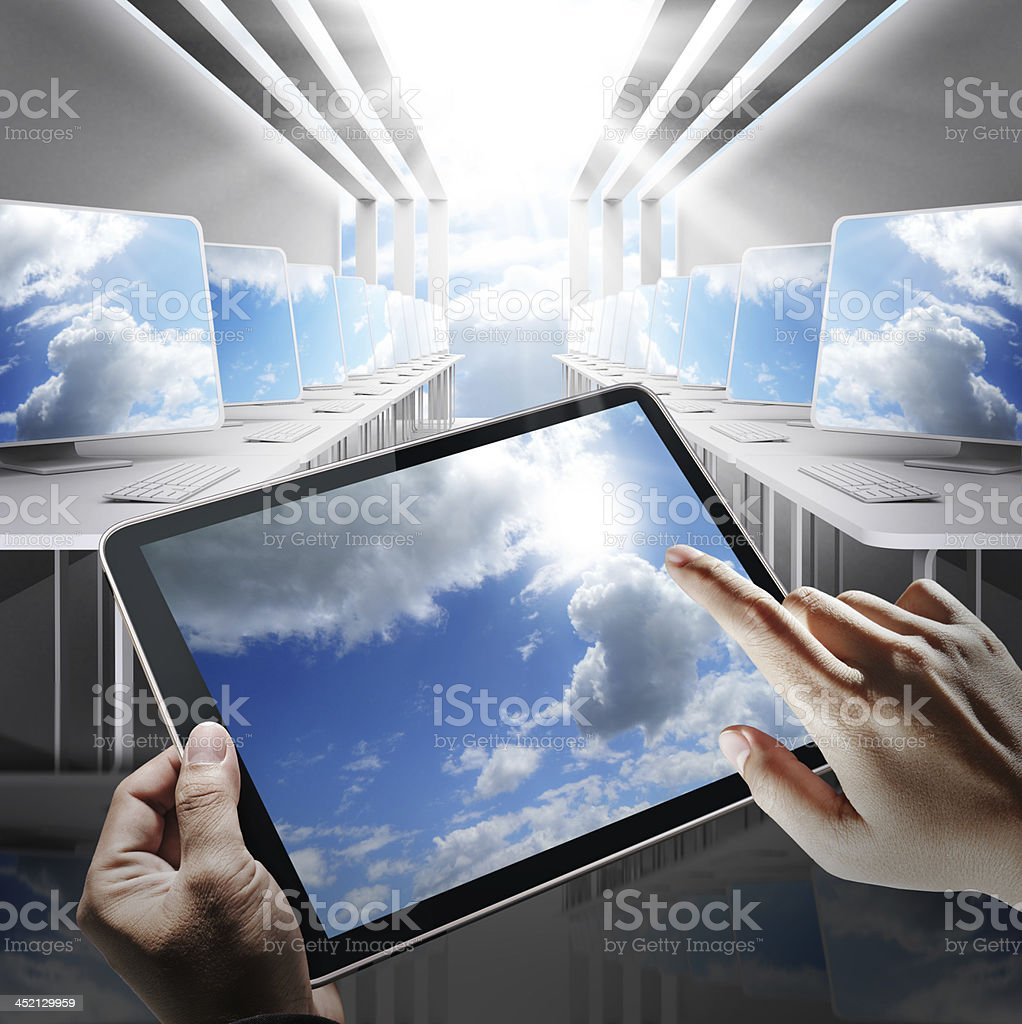cloud network concept royalty-free stock photo