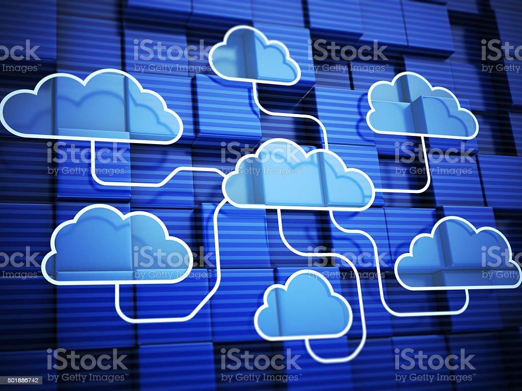 Cloud network stock photo