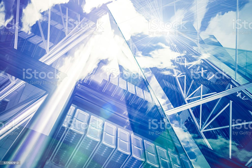 Cloud network servers concepts stock photo