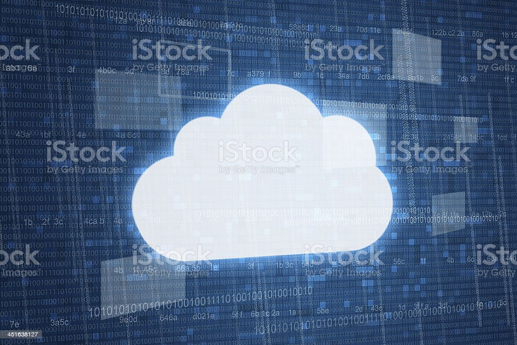 Cloud on digital background stock photo