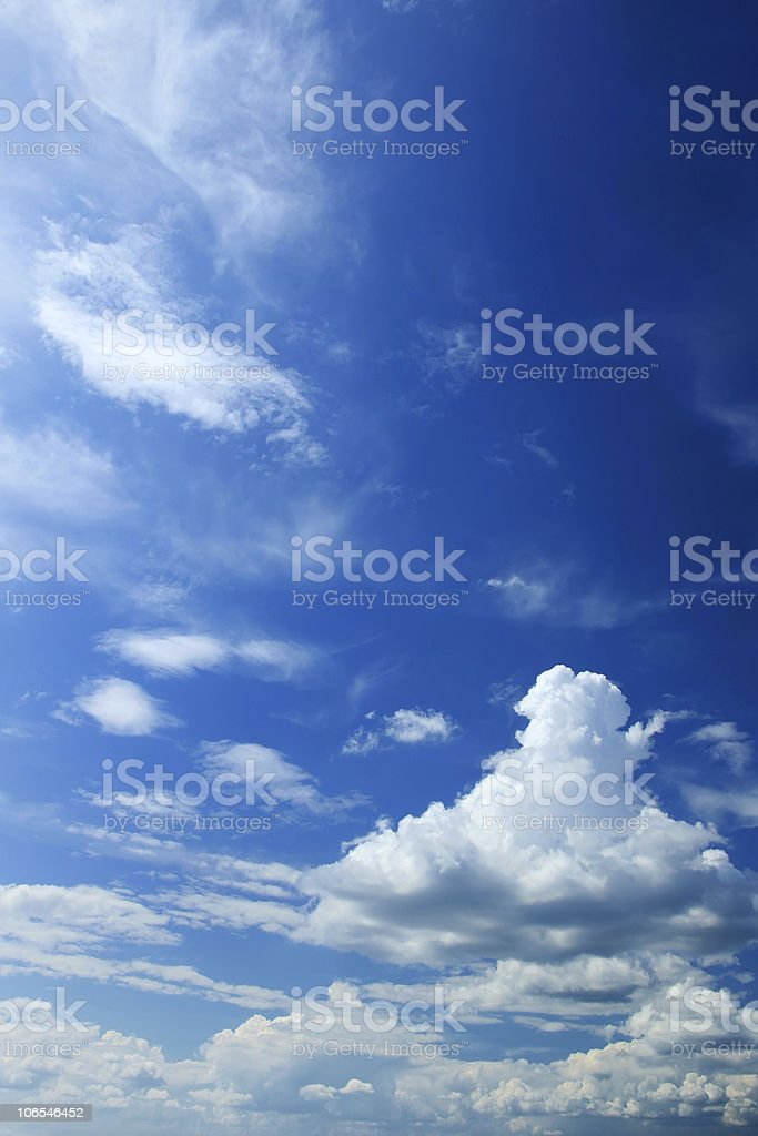 Cloud on sky royalty-free stock photo