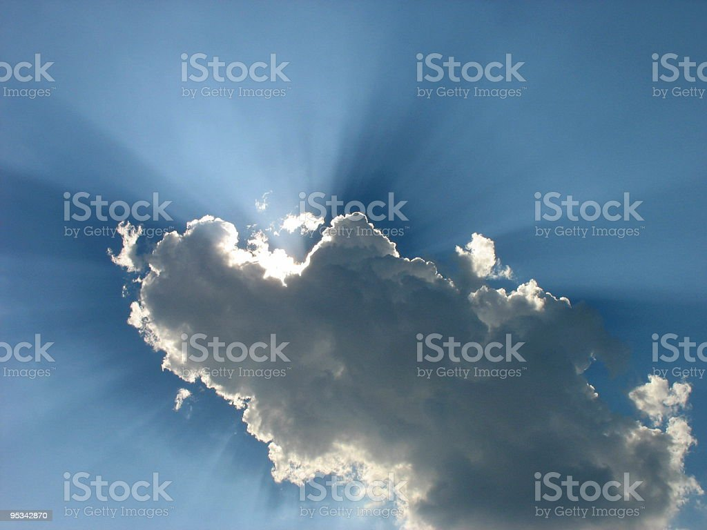 Cloud on the clear sky royalty-free stock photo