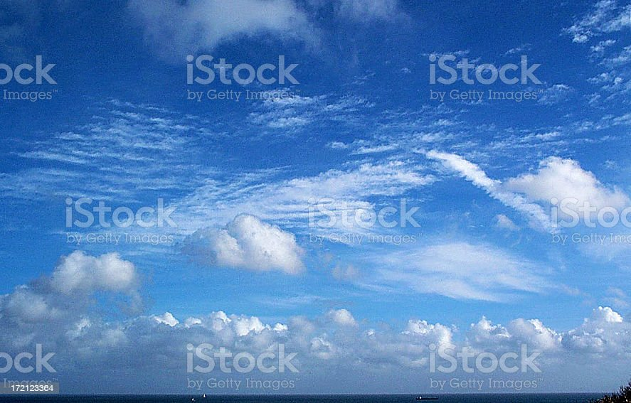 Cloud over bay royalty-free stock photo