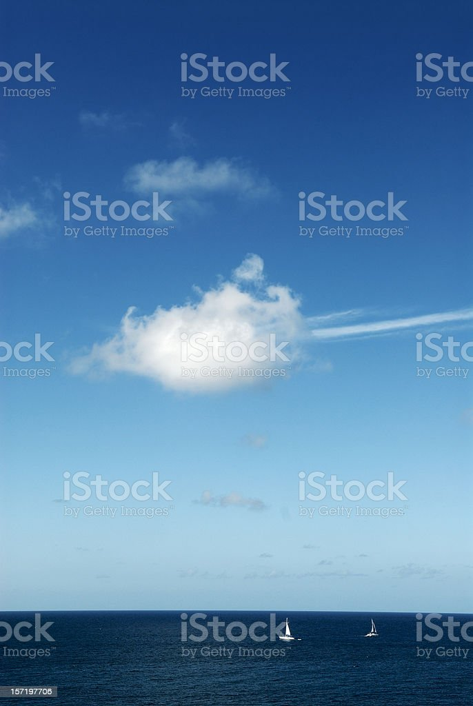 Cloud over Caribbean Sea royalty-free stock photo