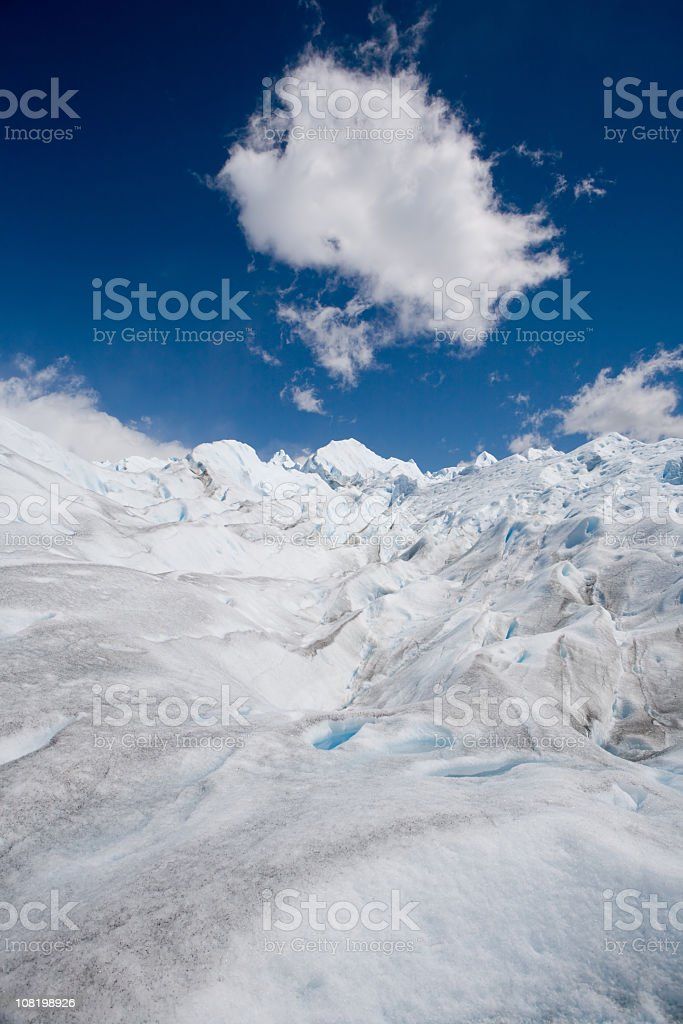 Cloud over Glacier royalty-free stock photo