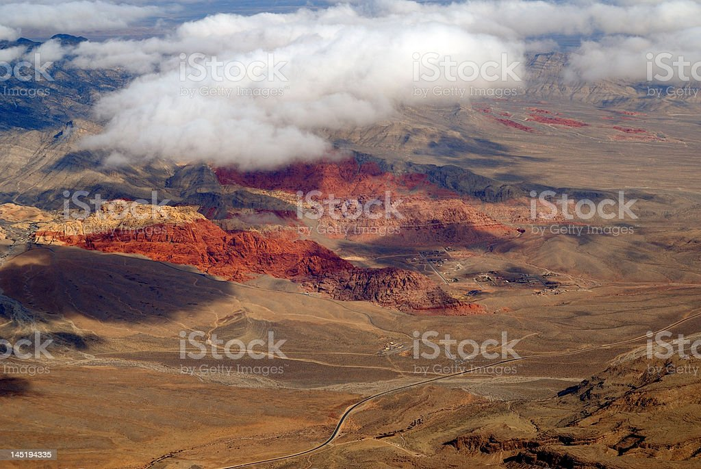 Cloud Over Red Rock Caynon stock photo