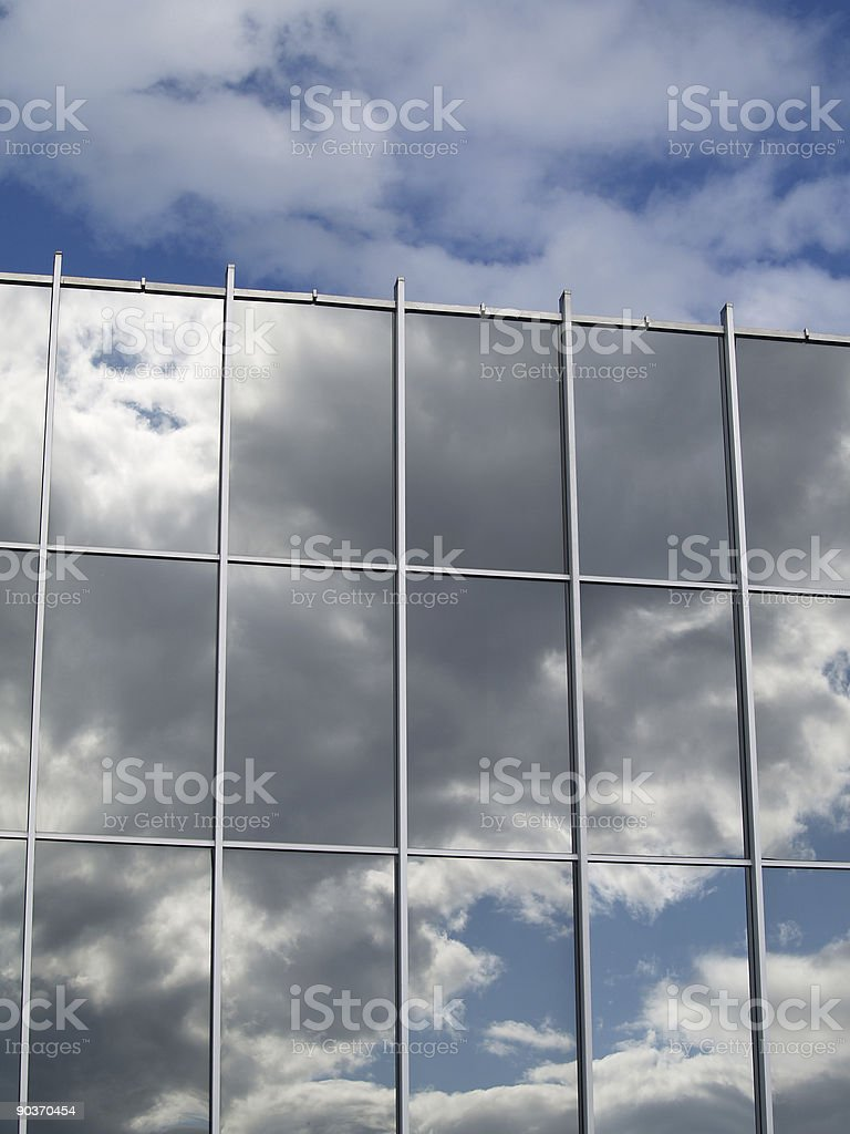 Cloud over Reflection royalty-free stock photo