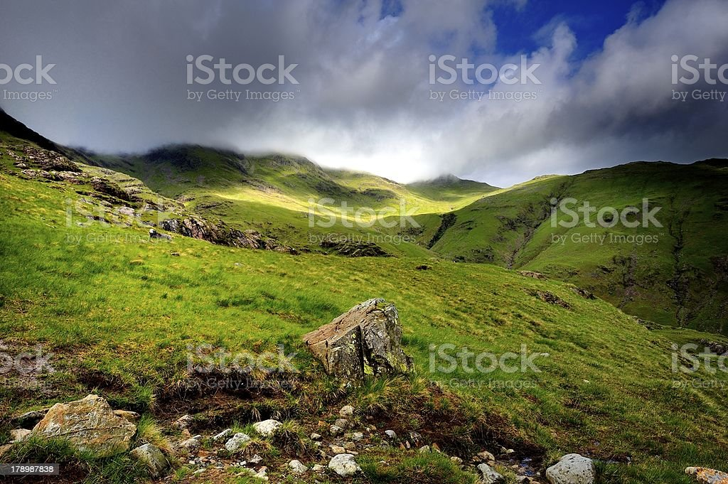 Cloud over the Crinkles royalty-free stock photo
