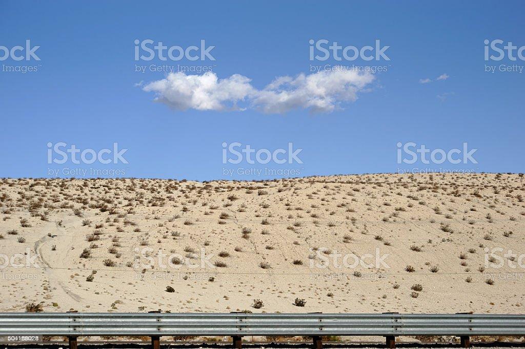 cloud over the desert stock photo