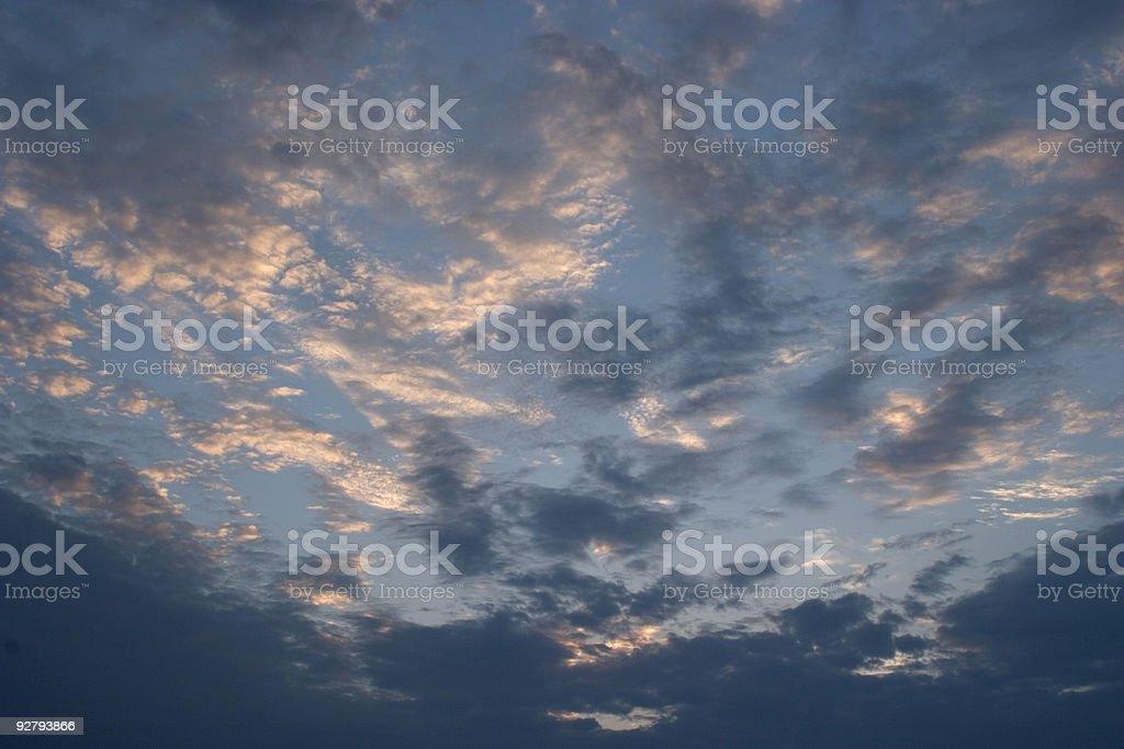 Cloud patterns at sunrise royalty-free stock photo
