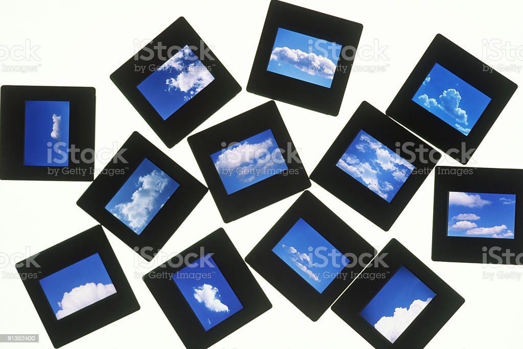 Cloud Photo Slide royalty-free stock photo
