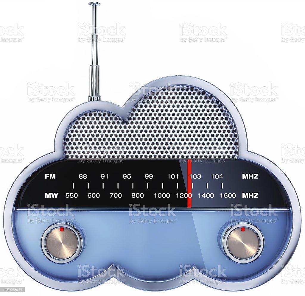 cloud radio stock photo